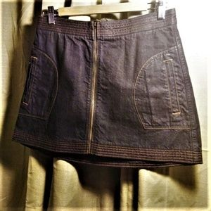 ABERCROMBIE FITCH Denim Miniskirt Front Zip Size 4